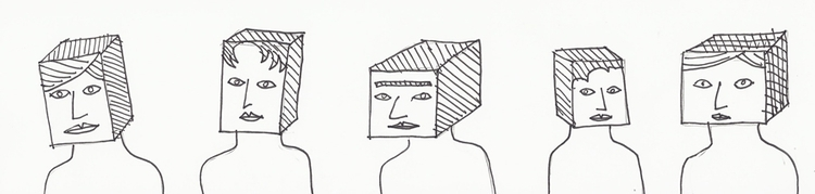 blockers - inktober, cubes, heads - catswilleatyou | ello