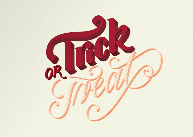Trick Treat Handlettering Proce - lepunktnoir | ello