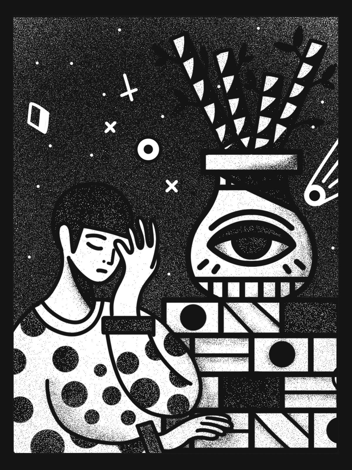 Insomnia Stuck Windows Life - illustration - kzhz | ello