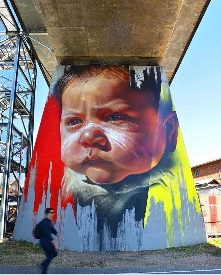 Artist: Adnate Location: Brisba - streetartunitedstates | ello