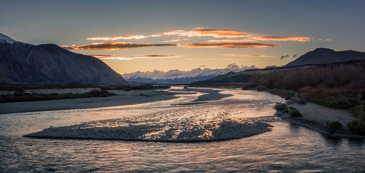 Rakaia River Sunset Canterbury - peter_kurdulija | ello