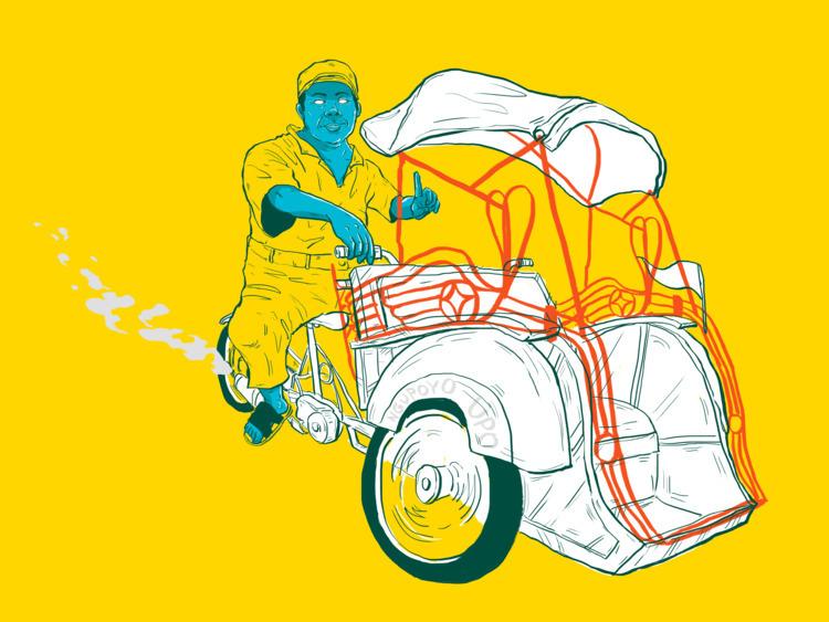 Becak Motor / Indonesian ricksh - guratnadi | ello