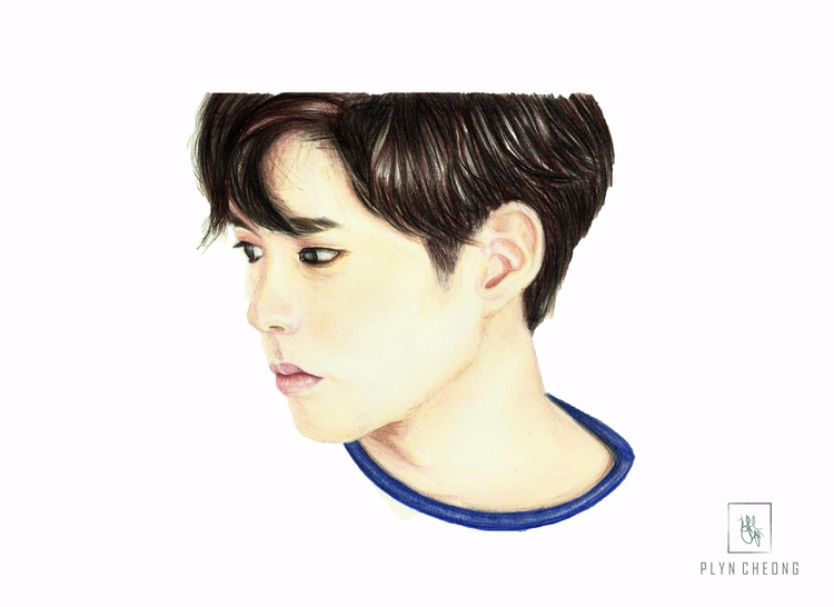 parkbogum, portrait, drawing - plyncheong | ello