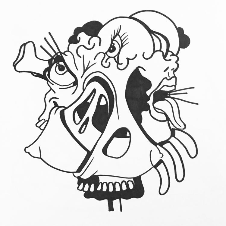 2 face - johndoodles | ello