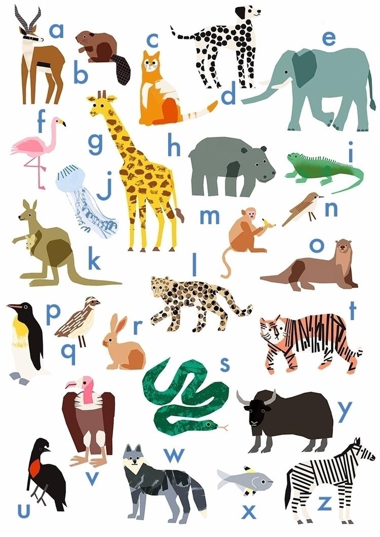 SHOP! Animal Alphabet A2 Poster - lizzielomax | ello