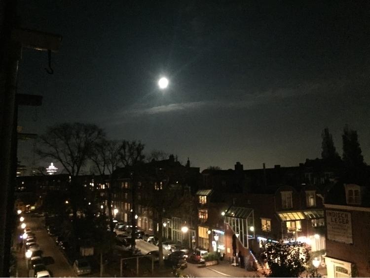 village Amsterdam full moon - twolipsinhamsterjam | ello