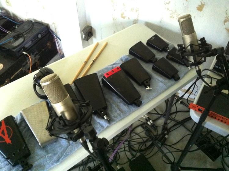 Recording cowbells today - music - douglascraig   ello