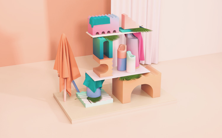 tropical, set, colorful, playful - electrabyelectra | ello