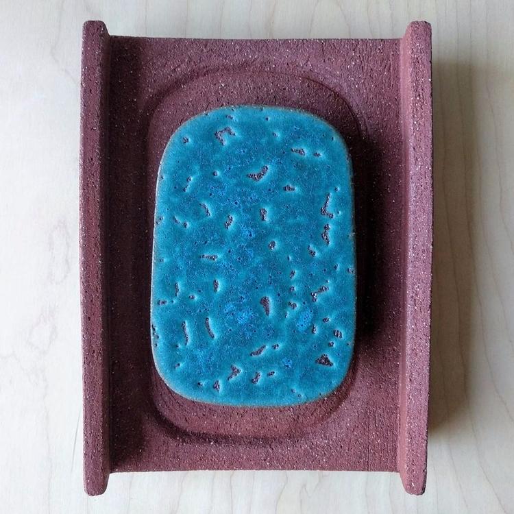 Door Pull. Turquoise glaze ston - texasadam | ello