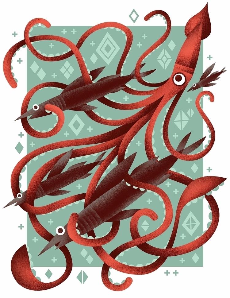 giant squid group speedy sea fi - arenvandenburgh | ello