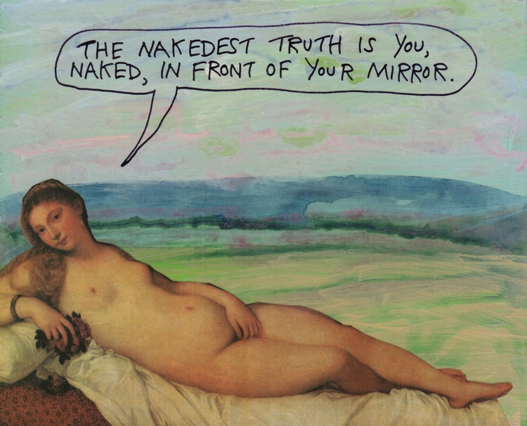 nakedest truth - naked, mirror - stoicmike | ello