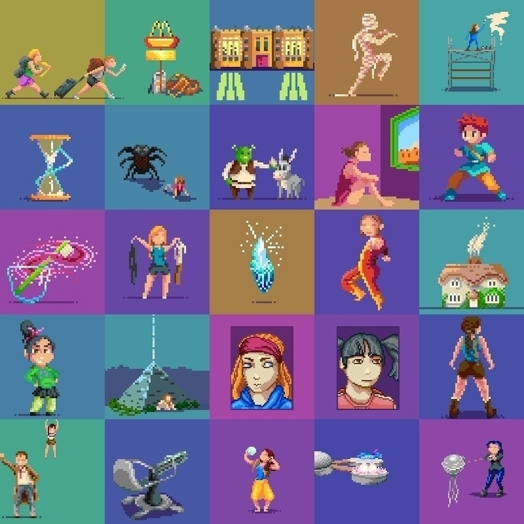 pixel dailies themes gumroad sa - hivernoir | ello