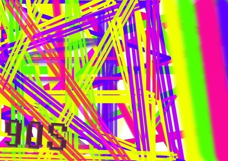 90s, art, design, digital, color - digital-btk | ello