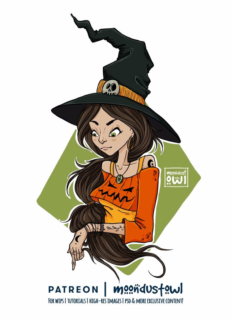 Halloweetch prints thorugh Soci - moondustowl | ello