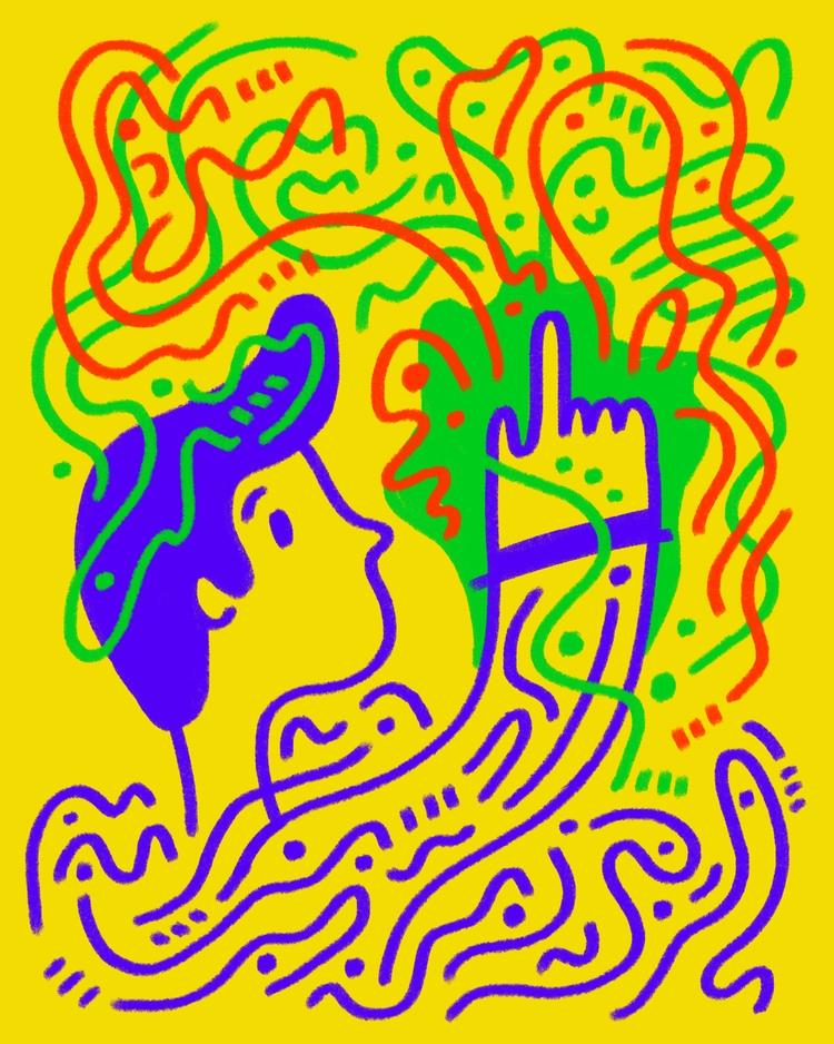 Mind Matter - illustration, illustrator - heybop | ello