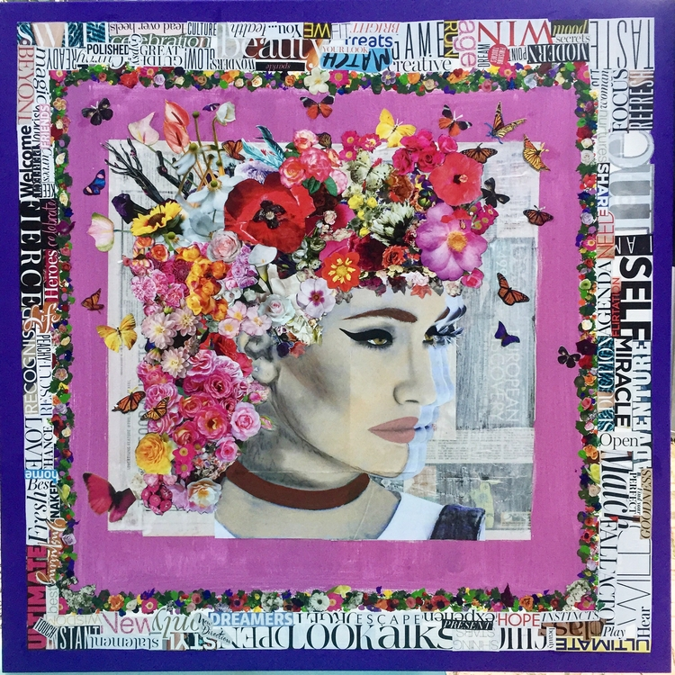 puts mind Collage Canvas 91.4 c - antadams | ello