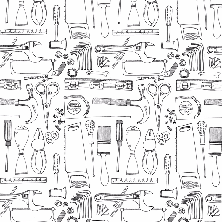 Pattern handyman - illustration - mdiperidesign | ello