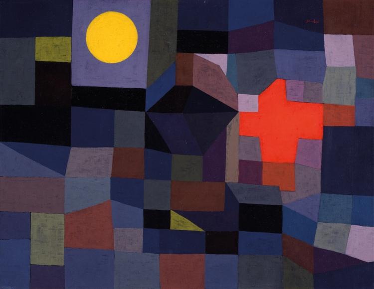 Paul Fire Full 1933 - Klee,, Moon, - bauhaus-movement | ello
