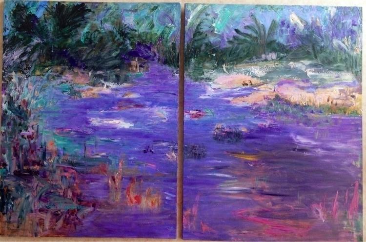 Chagrin River. diptyck. 48x72.  - bobbi-8863 | ello