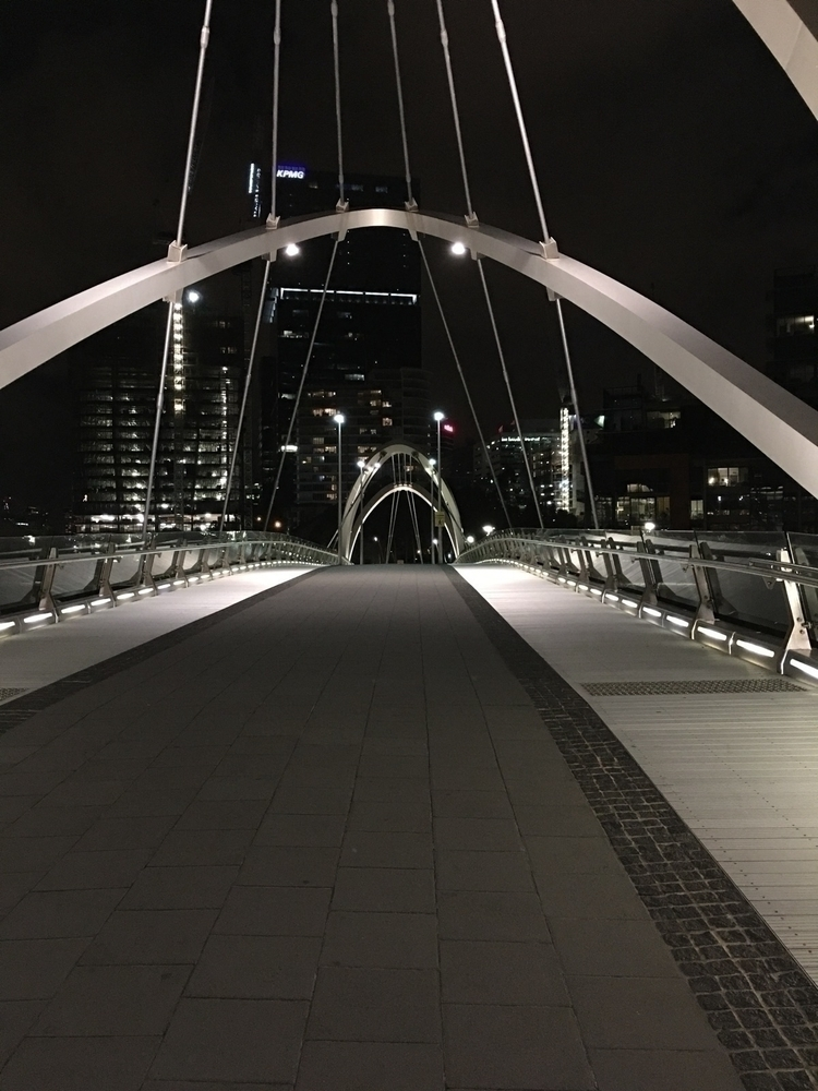 Bridge calm waters, clear night - minnowzola | ello