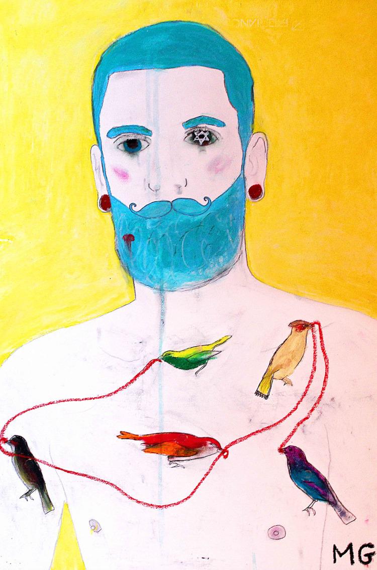 Strange Birds, acrylic, ink, oi - michaelgurhy | ello