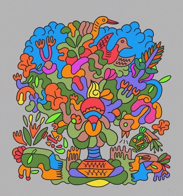 Tropical Oak Prayers. Submitted - marginalink | ello