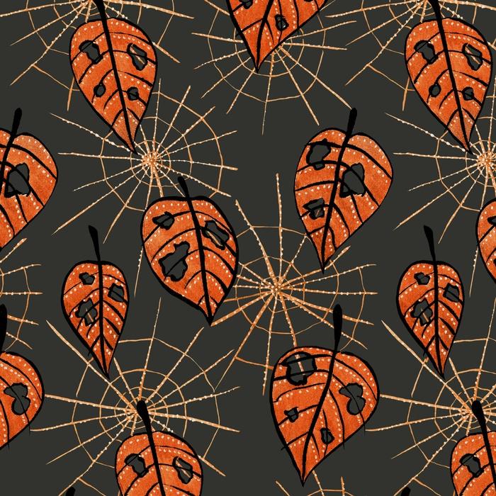 Autumn leaves holes spiderwebs - borianag | ello