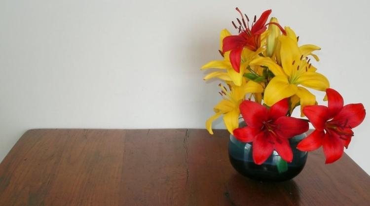 Lilies - flowers, cutflowers - firehorsetextiles | ello