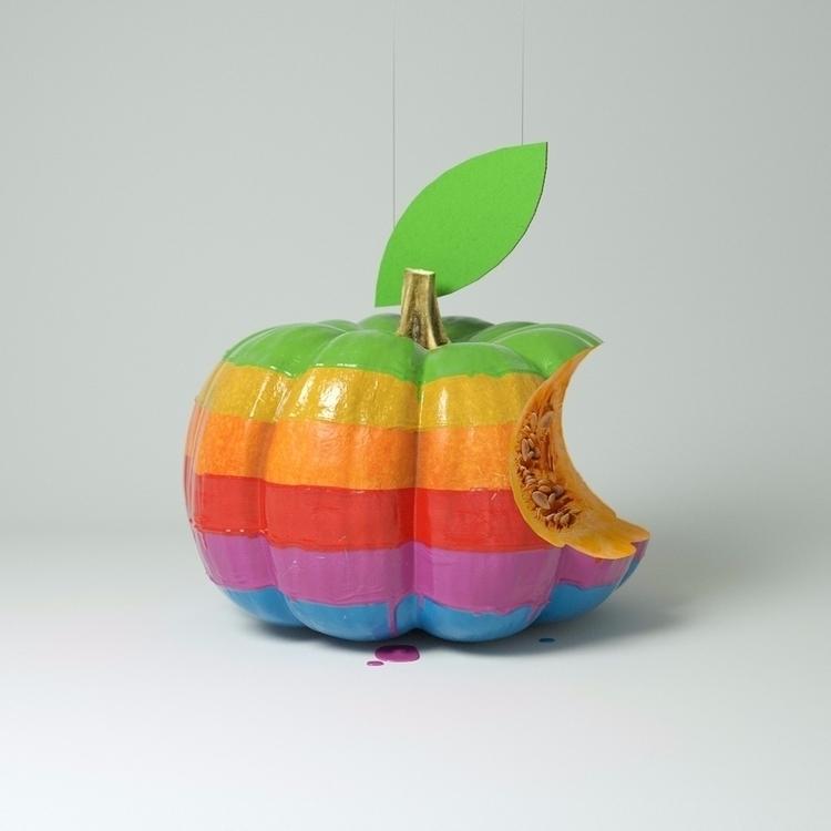 3d, cgi, c4d, apple, art, retro - weareforeal | ello