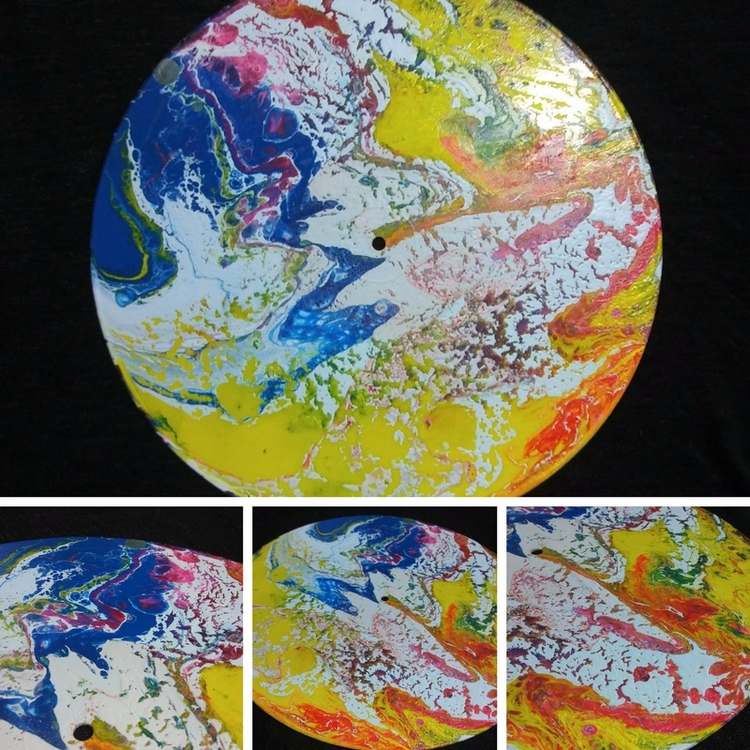 Upcycled Vinyl Record3 - abstract - sproiettiart | ello