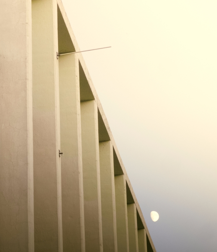 Mid-century building Moon. Fore - daphnehowland | ello