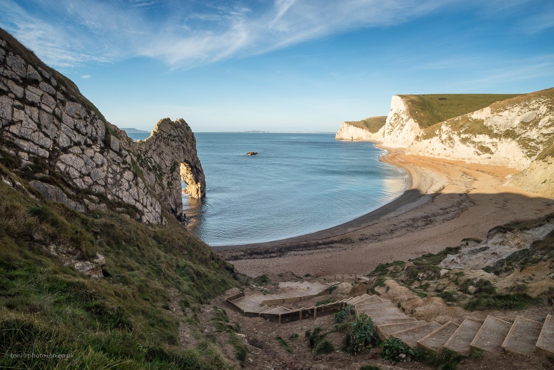 Beach, Dorset, arch, sunrise - toni_ertl | ello