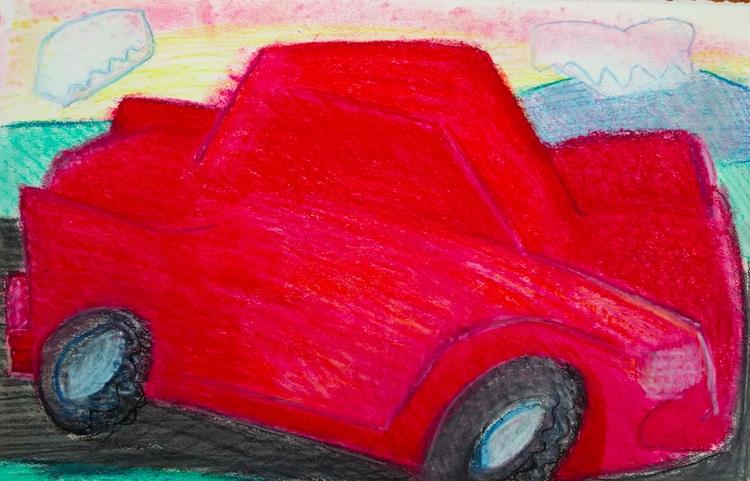 Road Trip pencil pastel paper,  - markbarry | ello