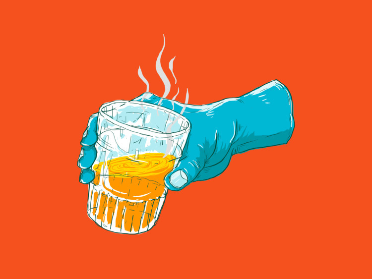 cold days art - hot, drink, illustration - guratnadi | ello