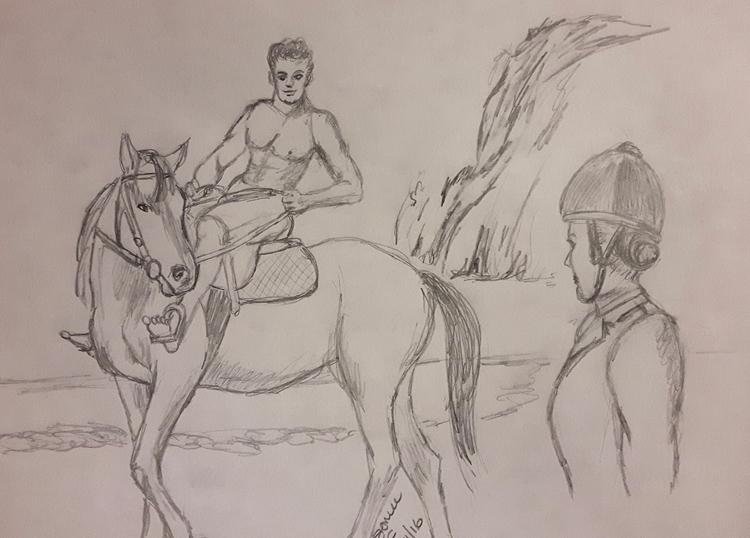 Bareback horse riding, coastal  - soniabigcheese | ello