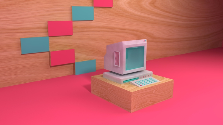 Learn, learn, learn... Retro Pc - ewelinagaska | ello