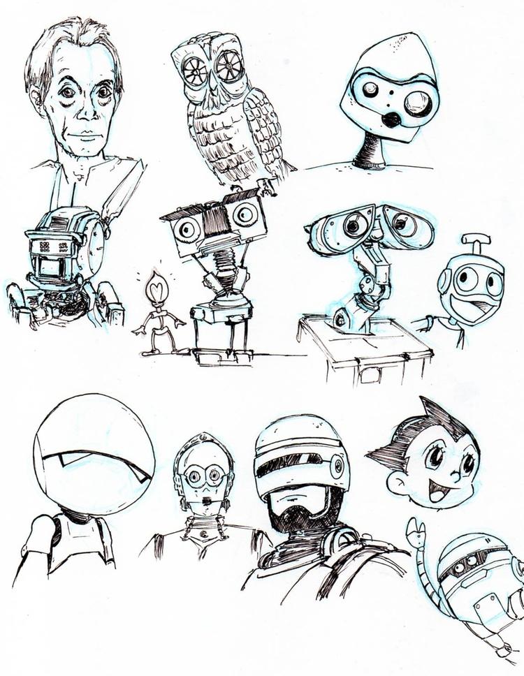 crobards rapides robots, cyborg - romgondy | ello
