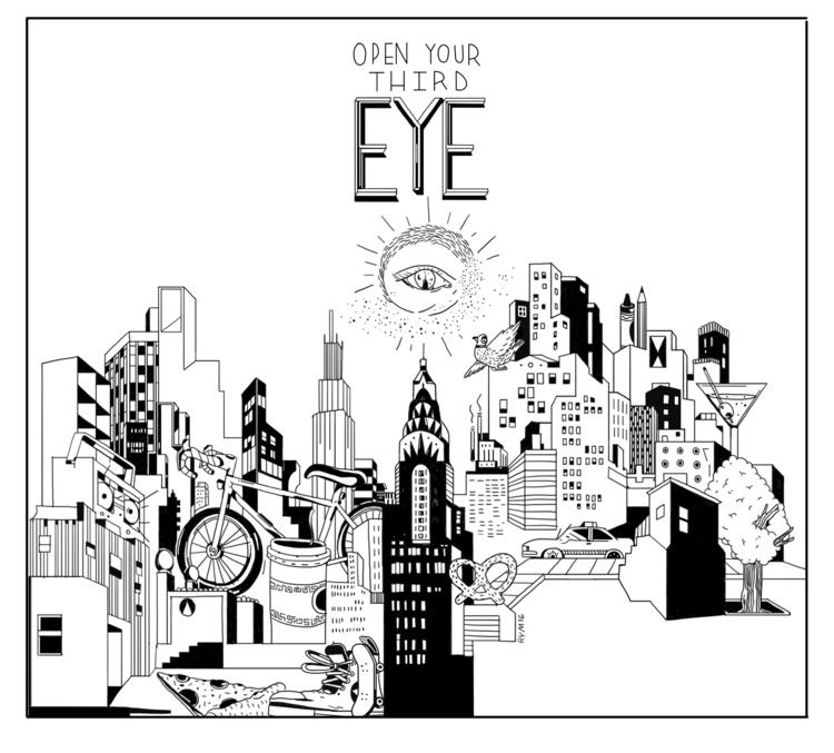 Open Eye (mural design - rymie, nycskyline - rymie | ello