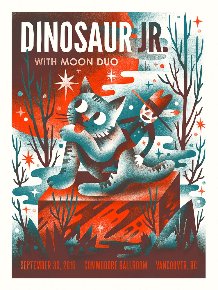 Dinosaur Jr. poster year - arenvandenburgh   ello