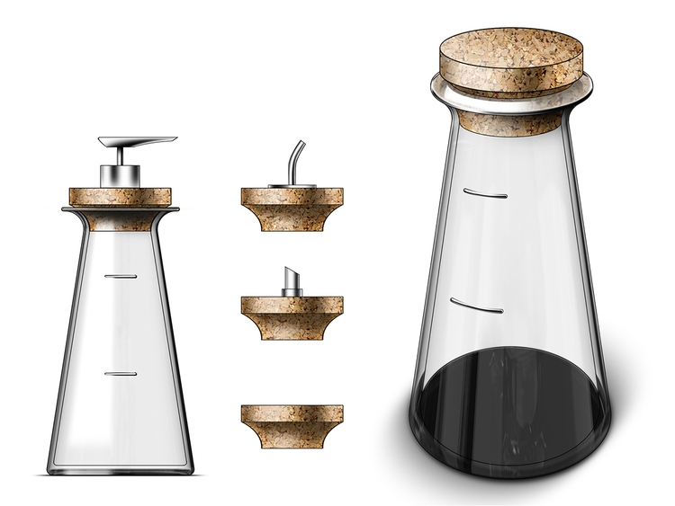 Glass Multi-Dispenser. Thick, h - jamesowendesign | ello