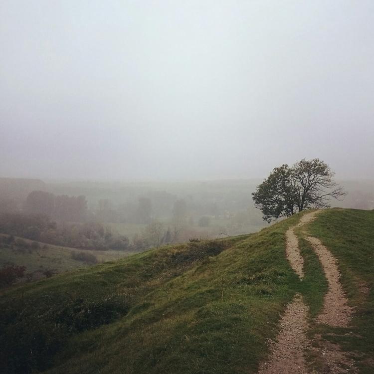 mist curls river fills valley - hill - estelleclarke | ello