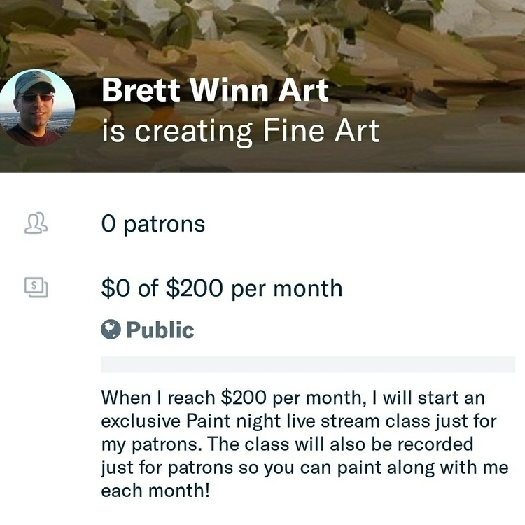$1 month, 12 beautiful painting - brettwinn | ello