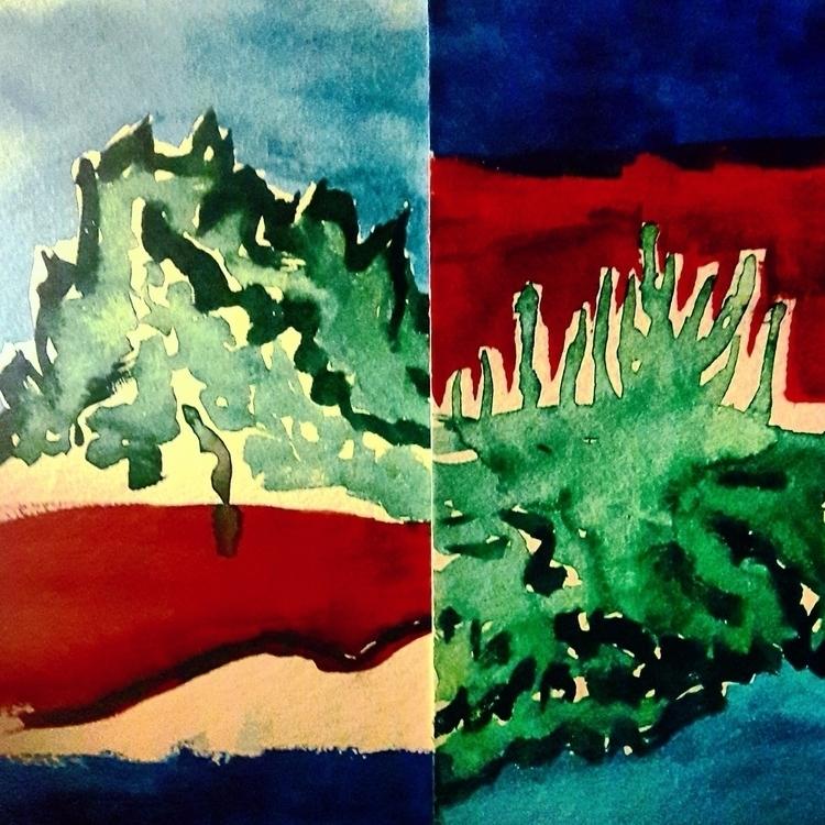 colors, art, painting, aquarel - kymia | ello
