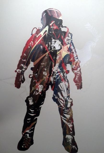 Multicolor astronaut OOAK print - 1aeon | ello