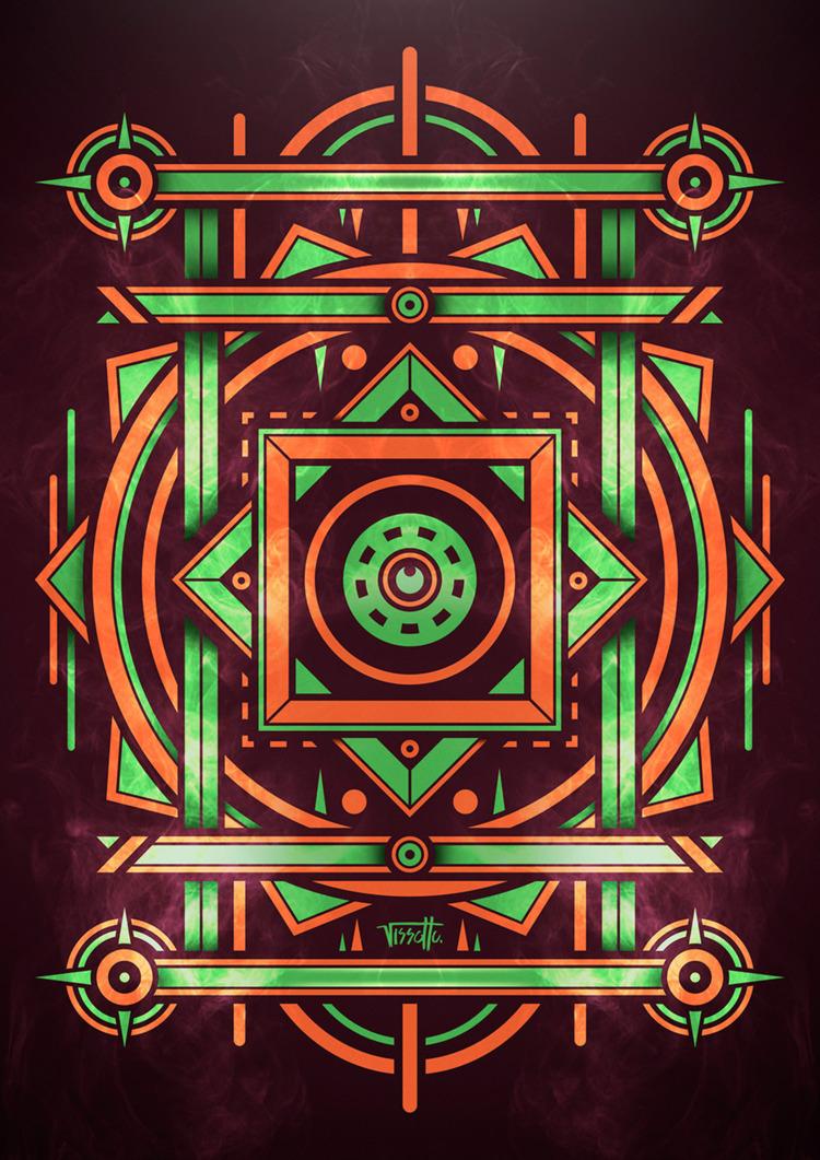 mirror - vector, symbol, illustrator - vissotto | ello