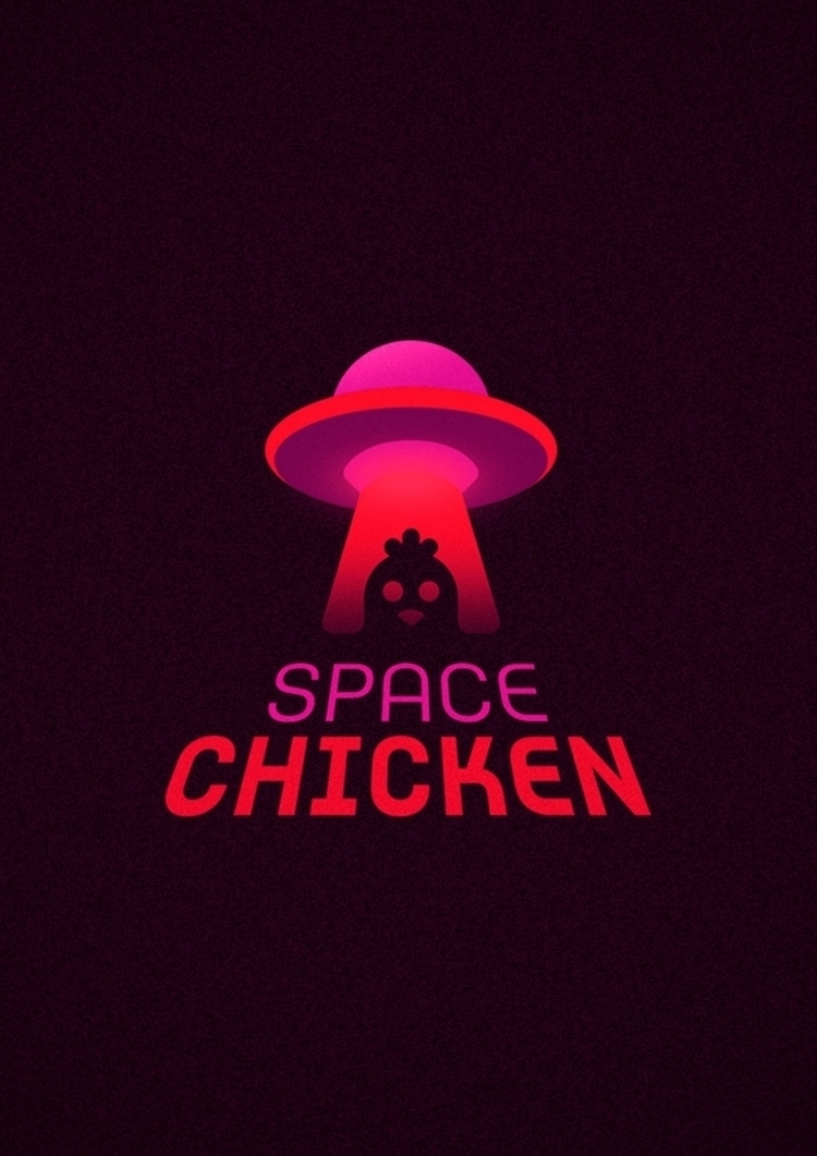 Space Chicken Logo - vector, logo - vissotto | ello