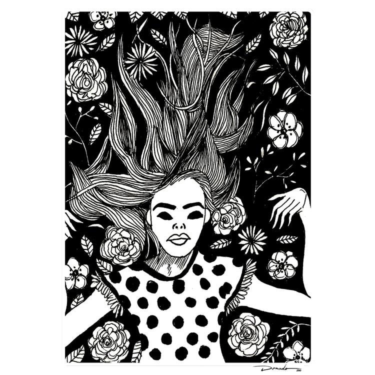 flower nap. . follow drawings - floral - oscar_donado | ello