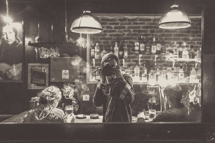 large mirror smoky pub Istanbul - mikitakesphotos | ello