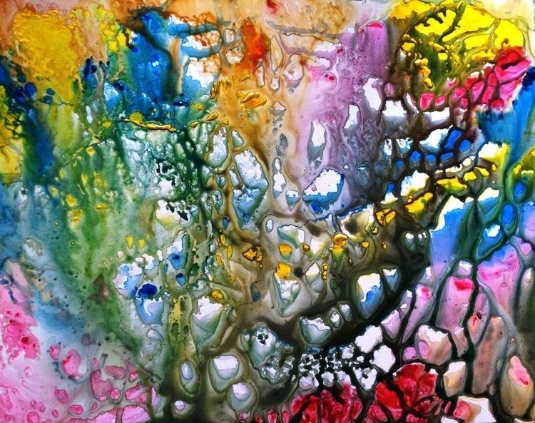 Coral Abstract original Paintin - artbymanjiri | ello