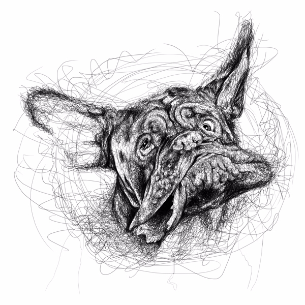 Shake Scribble series - dog, scribble - goragorskiy | ello